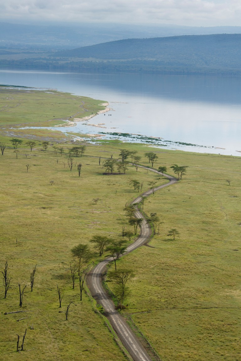 View from baboon cliff, Lake Nakuru National Park, Kenya
