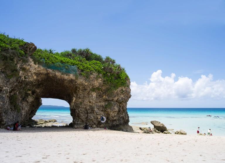 Sunayama Beach, Miyako Island, Okinawa, Japan.