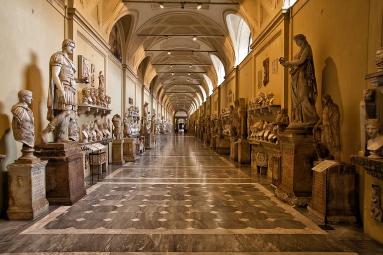 Interior display of Vatican Museum