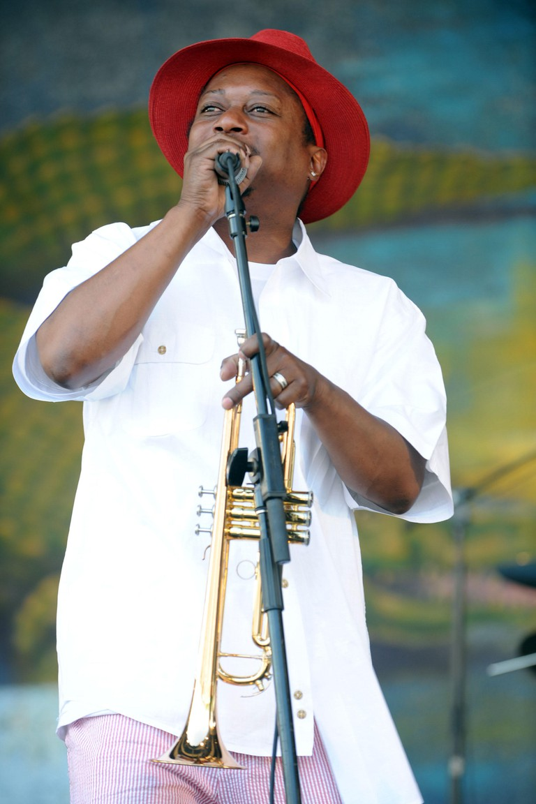 May 01, 2009 - New Orleans, Louisiana, USA - Musician KERMIT RUFFINS & The Barbecue Swingers performs live at the New Orleans Jazz and Heritage Festival at the New Orleans Fair Grounds Race Course. The New Orleans Jazz and Heritage Festival celebrates it'