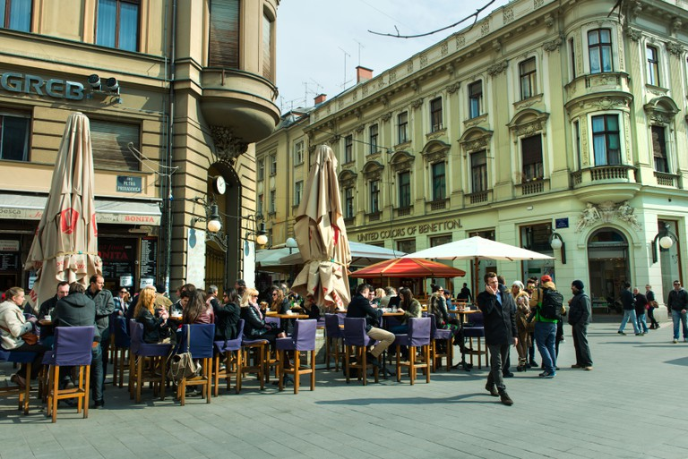 A bar in the centre of Zagreb