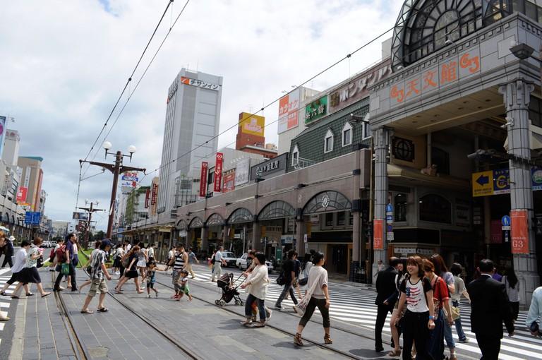 Tenmonkan, Kagoshima city, Kagoshima, Japan.