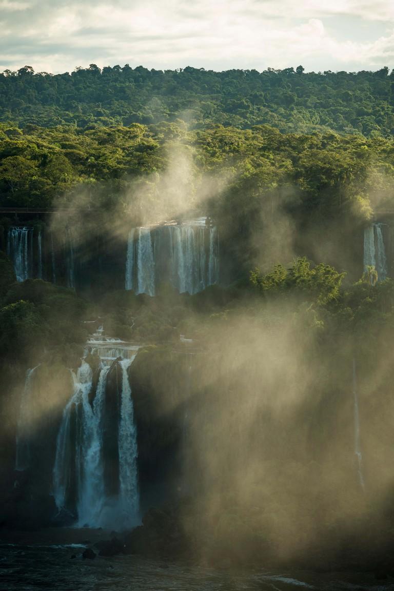 View from 'Trilha das Cataratas', Foz do Iguacu, Parque Nacional do Iguacu, Brazil, South america