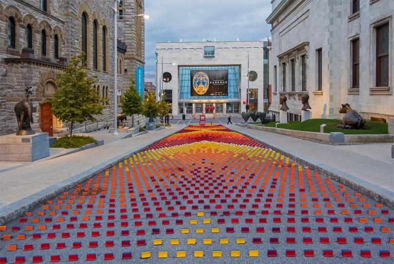 Canada, Quebec, Montreal, the Museum of Fine Arts, le Jardin des sculptures avenue du Musee