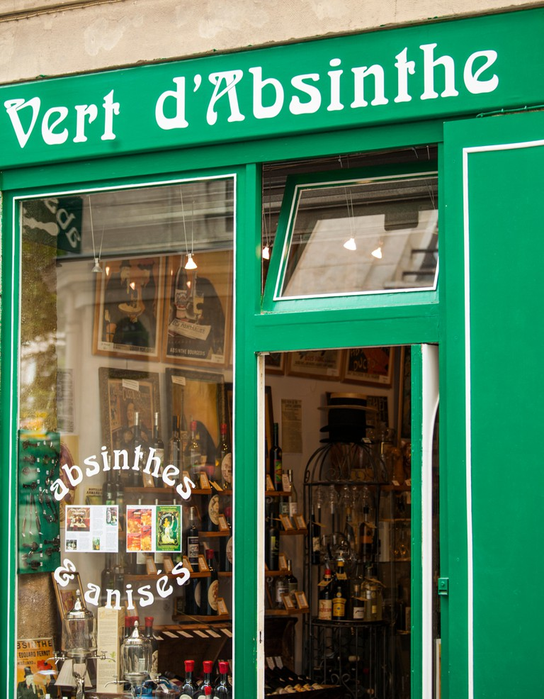 Absinthe and anise liquor store, Paris, France