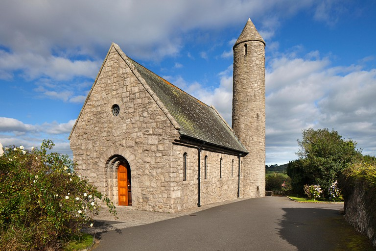 Saul Church Where St. Patrick Landed And Started His Irish Mission, Saul, County Down, Ireland.
