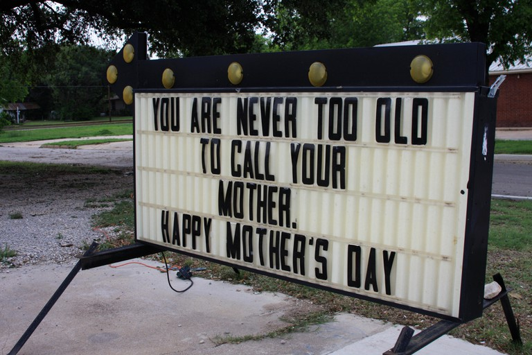 Quirky sign outside a diner in Texas USA