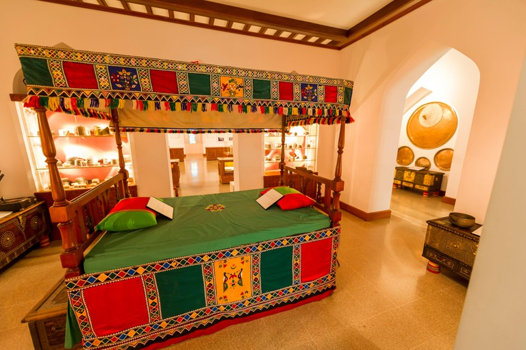 A traditional bed in Bait al Zubair museum