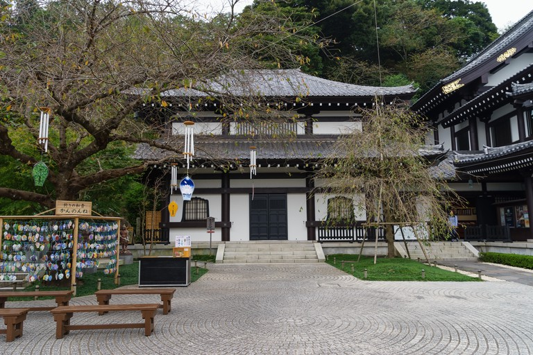 The Hase-dera Buddhist temple and shrine at Kamakura, Japan.