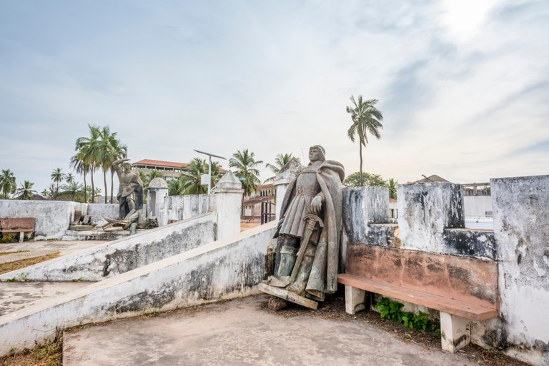 Cacheu Fortress ? a former Portuguese colonial trading post ? in the northern Guinea Bissau town of Cacheu