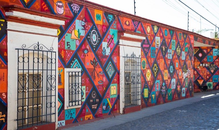 Oaxaca, Mexico - A painting in the city's Xochimilco neighborhood.