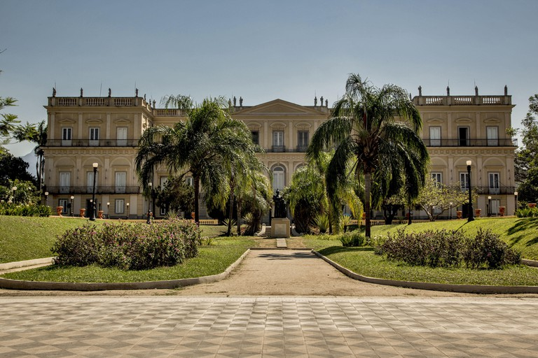 National Museum / UFRJ - residence of the royal / imperial family from 1808 to 1889 in Boa Vista. Image shot 10/2012. Exact date unknown.