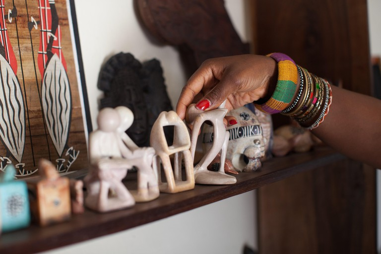 A female entrepreneur in her craft shop