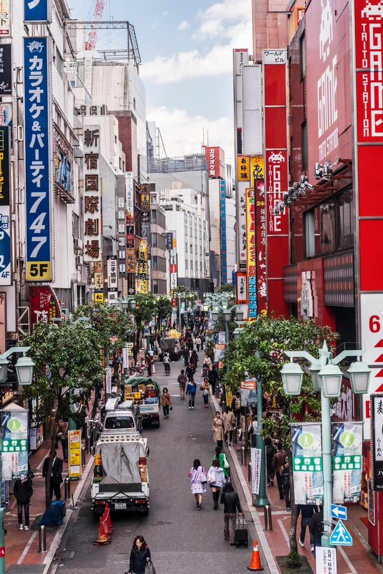 Street in Shinjuku, Tokyo, Japan