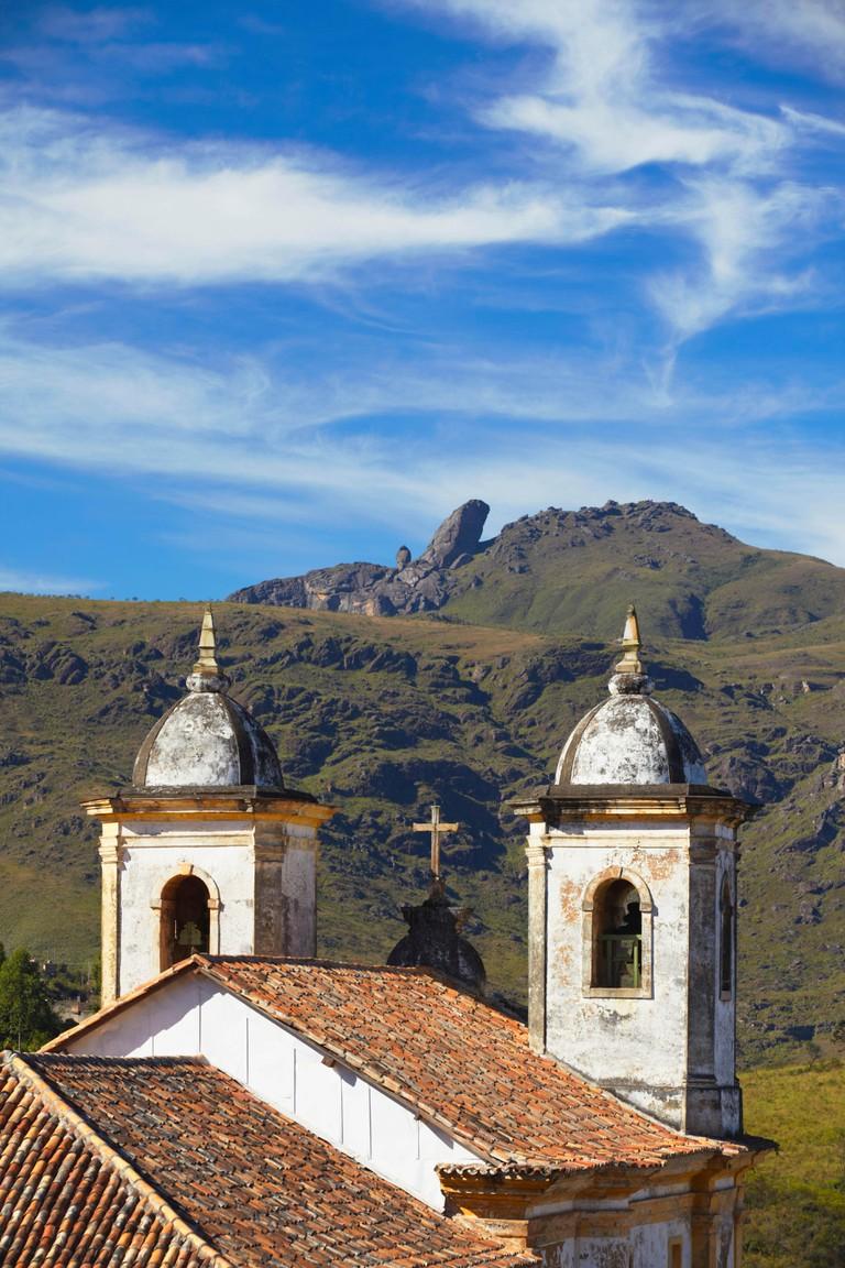 View of Our Lady of Merces de Baixo Church, Ouro Preto (UNESCO World Heritage Site), Minas Gerais, Brazil