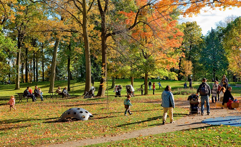 The mount Royal  park in Montreal