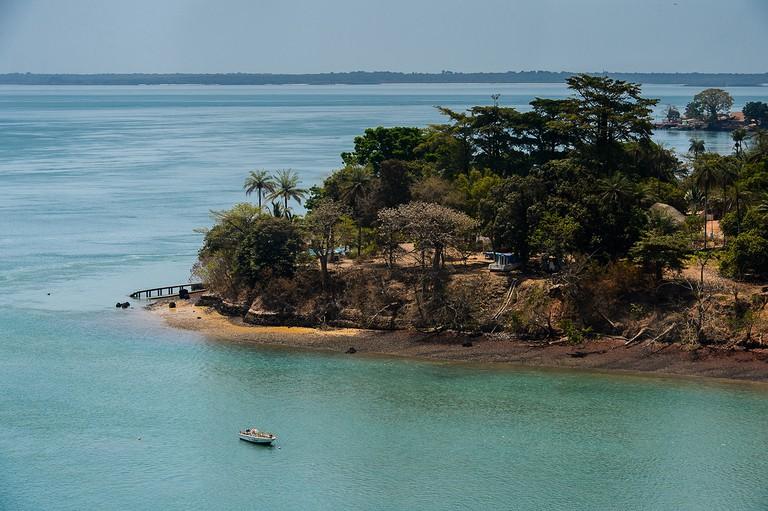 Coast of an island, Bissagos Archipelago (Bijagos), Guinea Bissau.  UNESCO Biosphere Reserve