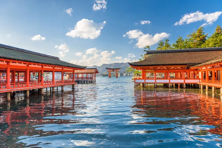 Miyajima, Hiroshima, Japan at Itsukushima Shrine
