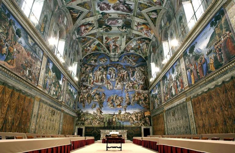 VATICAN-POPE-CARDINALS-SISTINE CHAPEL