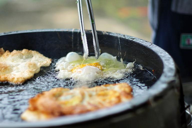Taiwan egg pancakes