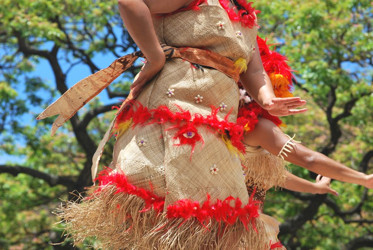 Details of a polynesian costume