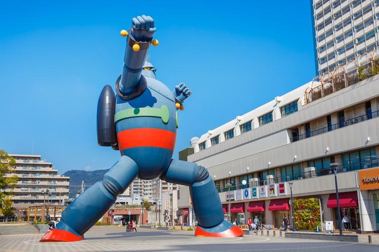 Tetsujin 28-go (Gigantor) Monument in Kobe City