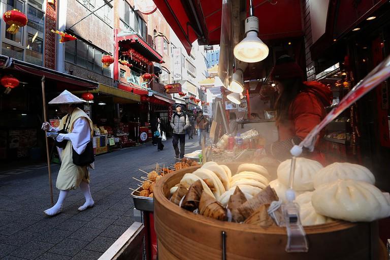 Tourists Enjoy Lunar New Year In Kobe Chinatown
