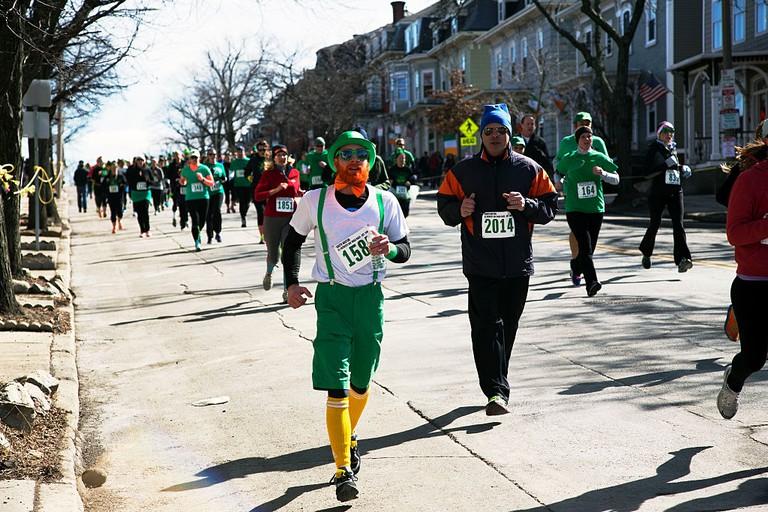 Joggers, South Boston, St Patricks Day Road Race, South Boston, Massachusetts