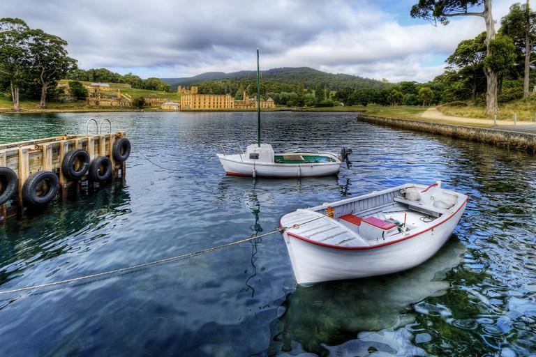Port Arthur Historic Site in the Background, Tasman Peninsula, Tasmania, Australia