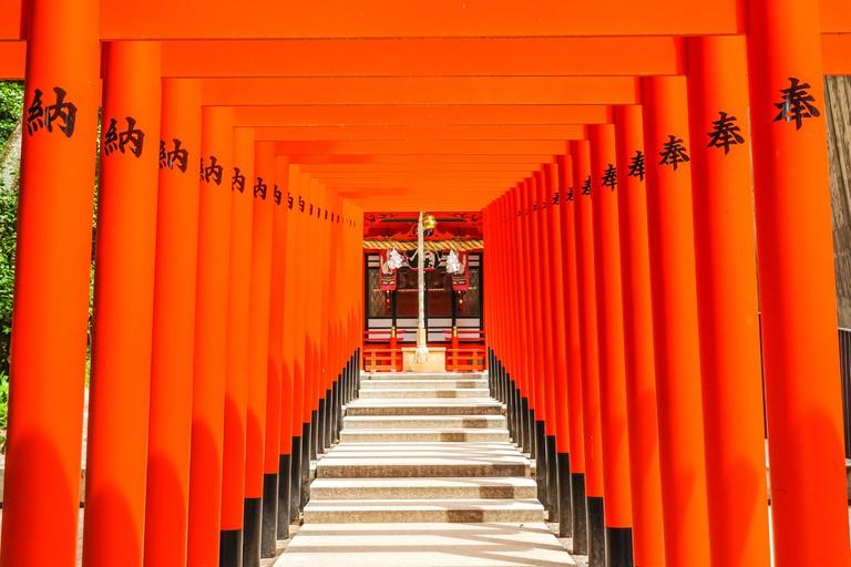 Ikuta shrine in Kobe city Japan