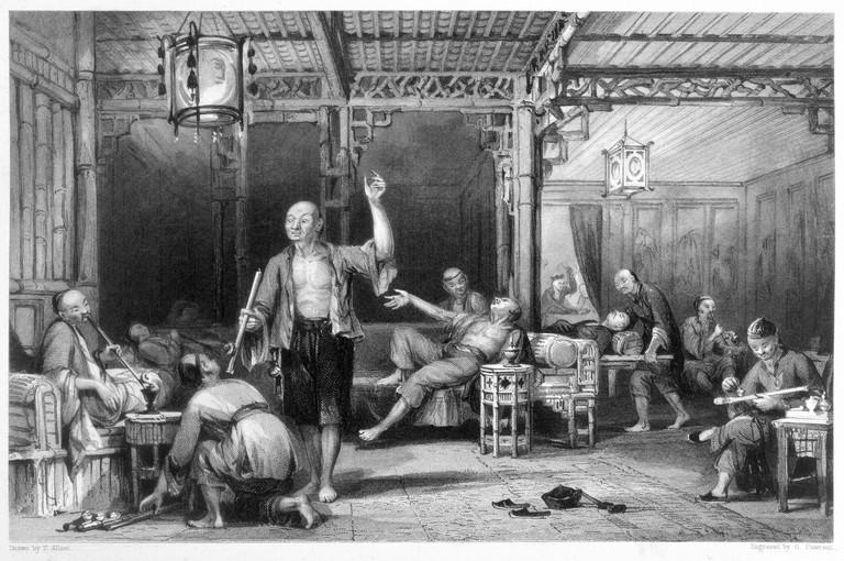 Chinese Opium Smokers 1843
