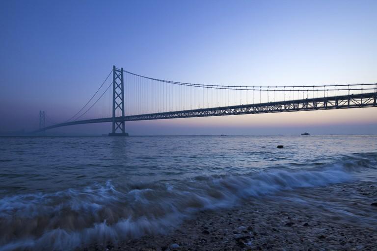 Dawn of the Akashi-Kaikyo Bridge