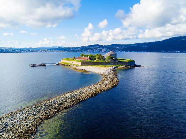 Munkholmen island in Trondheim