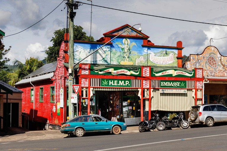 The Nimbin Hemp Embassy in Nimbin.