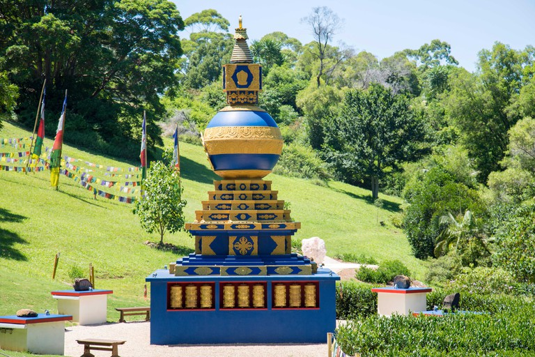 World Peace Stupa at Crystal Castle  and Shambhala Gardens in Mullumbimby near Byron Bay, New South Wales,Australia