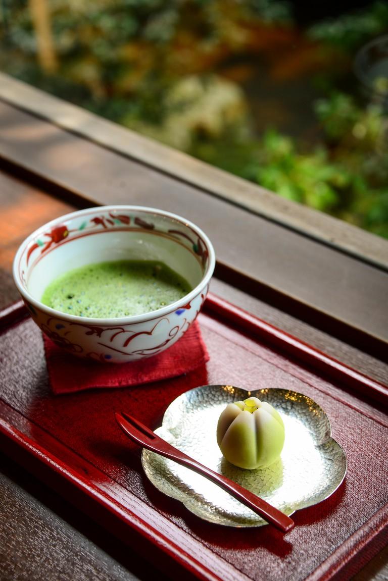 Japanese Sweets and Matcha Tea, Japan.