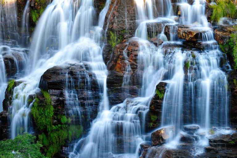 Waterfall, Chapada dos Veadeiros National Park, Goias State, Brazil