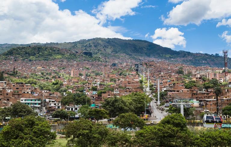 Cable Car to the Barrio de Santo Domingo, Medellin, Colombia