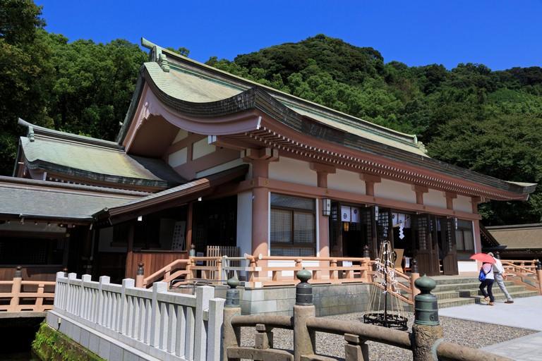 Terukuni Shrine, Kagoshima City, Kyushu Island, Japan.