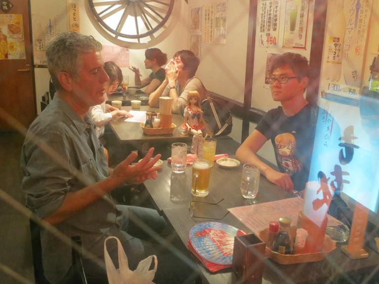 ANTHONY BOURDAIN: PARTS UNKNOWN, host Anthony Bourdain (left), 'Tokyo', (Season 2, ep. 207, aired Nov. 3, 2013). photo: ©CNN /