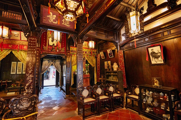 Interior view of the Old House of Tan Ky. Hoi An Ancient Town, Quang Nam Province, Vietnam.