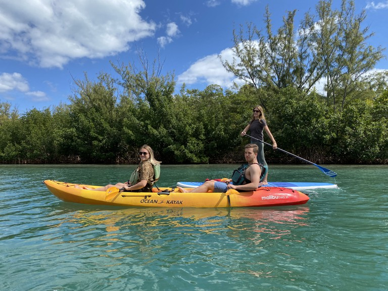 kayaking in Key Biscayne