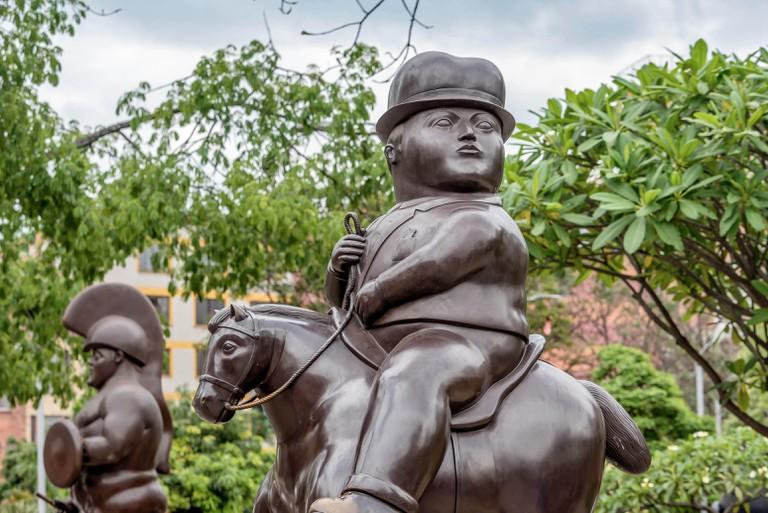 Fernando Botero Sculpture on Plaza Botero, Medellin, Colombia