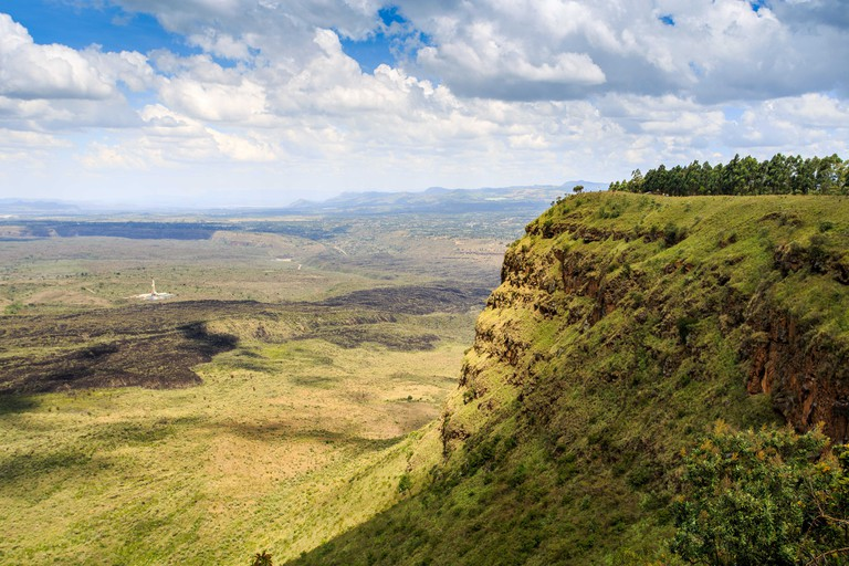 Beautiful landscape of Menengai Crater, Nakuru, Kenya, East Africa