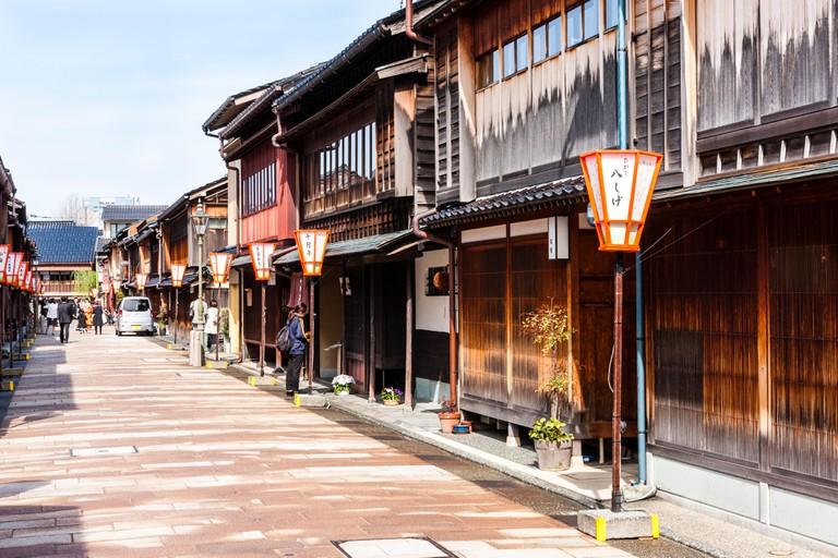 Higashi Chaya district in Kanazawa.