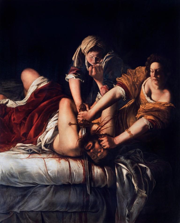 Judith Slaying Holofernes by Artemisia Gentileschi (1593-1656)