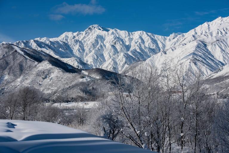 Japan Nagano ski mountains