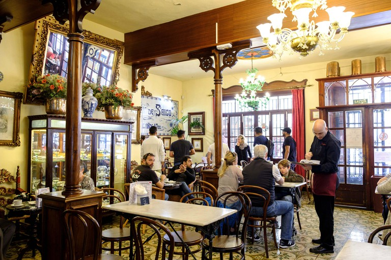 Can Joan de s Aigo, chocolateria heladeria tradicional, Palma, Mallorca, balearic islands, spain, europe.