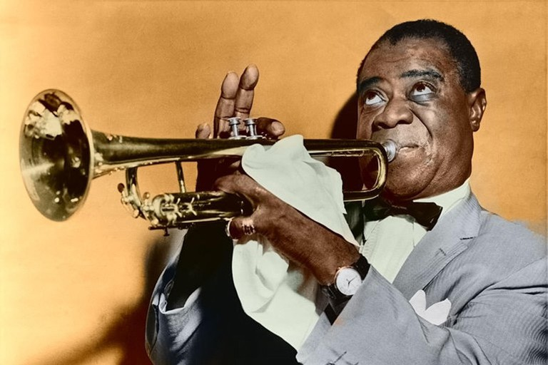 Louis Armstrong restored (color version)