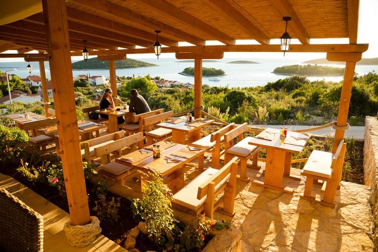 Solta, restaurant terrace